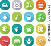 flat vector icon set   iron... | Shutterstock .eps vector #770403718