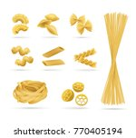 pasta set  realistic style.... | Shutterstock .eps vector #770405194