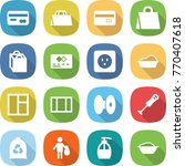 flat vector icon set   card... | Shutterstock .eps vector #770407618