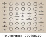huge rosette wicker border... | Shutterstock .eps vector #770408110
