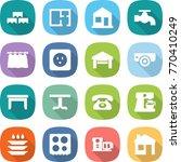 flat vector icon set   block... | Shutterstock .eps vector #770410249