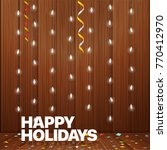 happy holidays greeting card.... | Shutterstock .eps vector #770412970