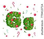 vector alphabet in christmas... | Shutterstock .eps vector #770413714