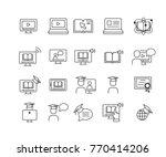 simple set of online education  ... | Shutterstock .eps vector #770414206