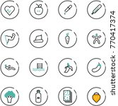 line vector icon set   heart... | Shutterstock .eps vector #770417374