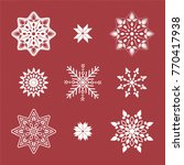 set of snowflakes. beautiful... | Shutterstock .eps vector #770417938