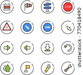 line vector icon set   sign... | Shutterstock .eps vector #770418490