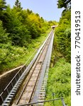 view of the rails of a... | Shutterstock . vector #770419513