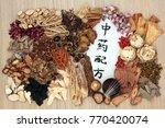 chinese alternative herbal... | Shutterstock . vector #770420074