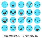 hand drawn vector emoticons... | Shutterstock .eps vector #770420716