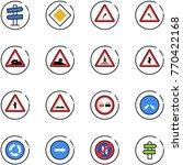 line vector icon set   road... | Shutterstock .eps vector #770422168