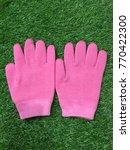 gel spa gloves pink mask... | Shutterstock . vector #770422300