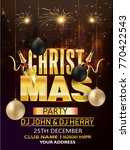christmas party flyer   Shutterstock .eps vector #770422543