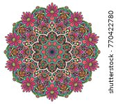round colored mandala. vector... | Shutterstock .eps vector #770422780