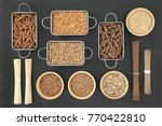 dried macrobiotic health food... | Shutterstock . vector #770422810