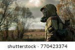 Stalker Soldier In Gas Mask An...