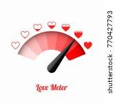 love meter  valentine's day... | Shutterstock .eps vector #770427793