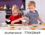 cute little boy and girl twins...   Shutterstock . vector #770428669