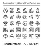 business and finance line icon... | Shutterstock .eps vector #770430124