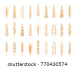 agricultural symbols isolated... | Shutterstock . vector #770430574