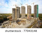building of high rise apartment ...