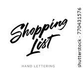 shopping list. hand drawn... | Shutterstock .eps vector #770431576