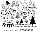 a set of various christmas... | Shutterstock .eps vector #770434159
