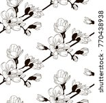 vector black decorative... | Shutterstock .eps vector #770438938