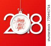 2018 happy new year celebrate... | Shutterstock .eps vector #770441716