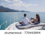 couple enjoying honeymoon... | Shutterstock . vector #770443894