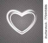 glowing heart. transparent... | Shutterstock .eps vector #770445886
