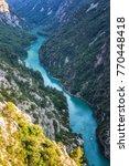 verdon gorge  gorges du verdon  ... | Shutterstock . vector #770448418