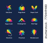 bright colorful icons set with... | Shutterstock .eps vector #770449480