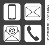 contact icons   simple flat... | Shutterstock .eps vector #770453029