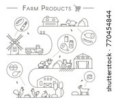 farm products icons in linear... | Shutterstock .eps vector #770454844