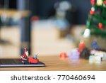 Santa Claus With Xmas Tree In...