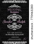 wedding card with detailed... | Shutterstock .eps vector #770463283