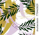 vector expressive palm leaves... | Shutterstock .eps vector #770463829