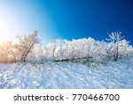 deogyusan mountains is covered... | Shutterstock . vector #770466700