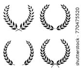 set of laurel wreaths of... | Shutterstock . vector #770475520