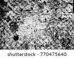grunge black and white pattern. ... | Shutterstock . vector #770475640