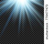 vector sun light lens blue... | Shutterstock .eps vector #770477473