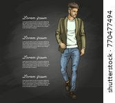 vector man model | Shutterstock .eps vector #770477494