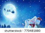 merry christmas and happy new... | Shutterstock . vector #770481880
