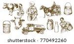 cow  milk  dairy product. set... | Shutterstock .eps vector #770492260