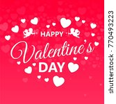 love valentines day. card... | Shutterstock .eps vector #770493223