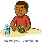 elementary school age boy...   Shutterstock .eps vector #770493370