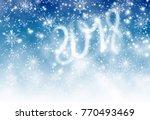 christmas greeting card closeup | Shutterstock . vector #770493469