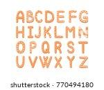 vector set cartoon alphabet of