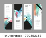 vector vertical banner design | Shutterstock .eps vector #770503153